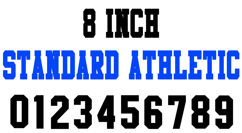 Numberstencils Net 8 Inch Standard Athletic Number