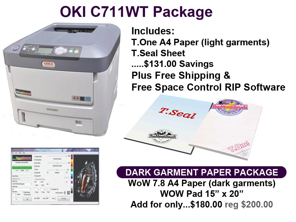 OKI C711WT White Laser Transfer Printer