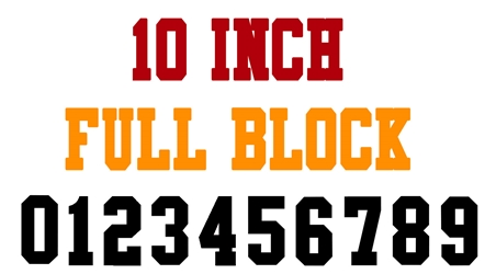 10 Inch Full Block Number Stencils (100 Sheet Packs)