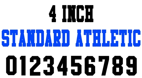 4 Inch Standard Athletic Number Stencils (100 Sheet Packs)