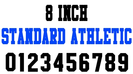 8 Inch Standard Athletic Number Stencils (100 Sheet Packs)
