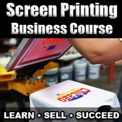 Complete Screen Printing Business Course (November 14th-15th) screen printing class, business, terry combs