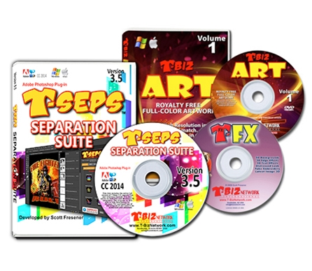 T-Seps 3.5.1 Color Separation Software color separation, software, t-seps, screen printing