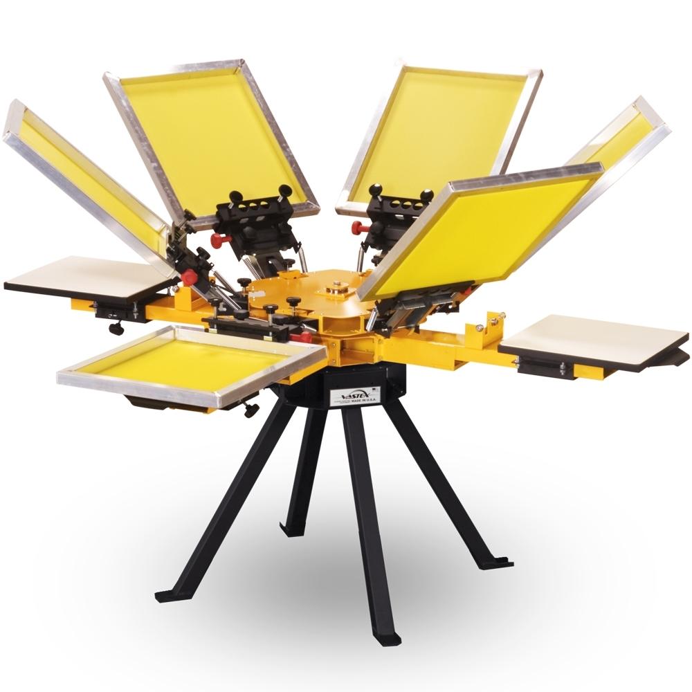 Color press printing - Vastex V 1000 4 Station 6 Color Press