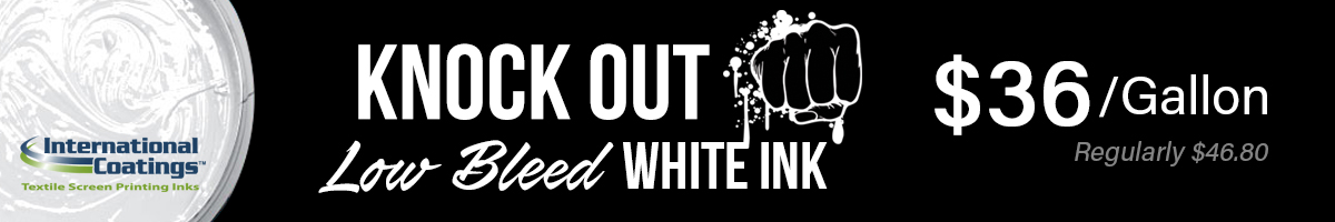 Knock Out White Ink Sale