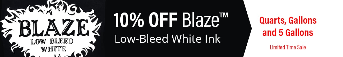 Blaze White Screen Printing Ink