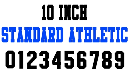 10 Inch Standard Athletic Number Stencils (100 Sheet Packs)