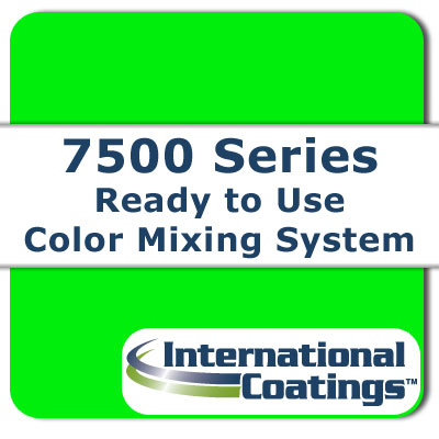 7525 Mixing FL Green NP international coatings, 7500 series, screen printing ink