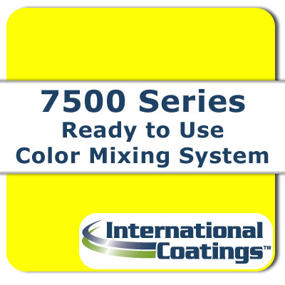 7527 Mixing FL Yellow NP international coatings, 7500 series, screen printing ink