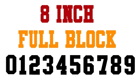 8 Inch Full Block Number Stencils (100 Sheet Packs)