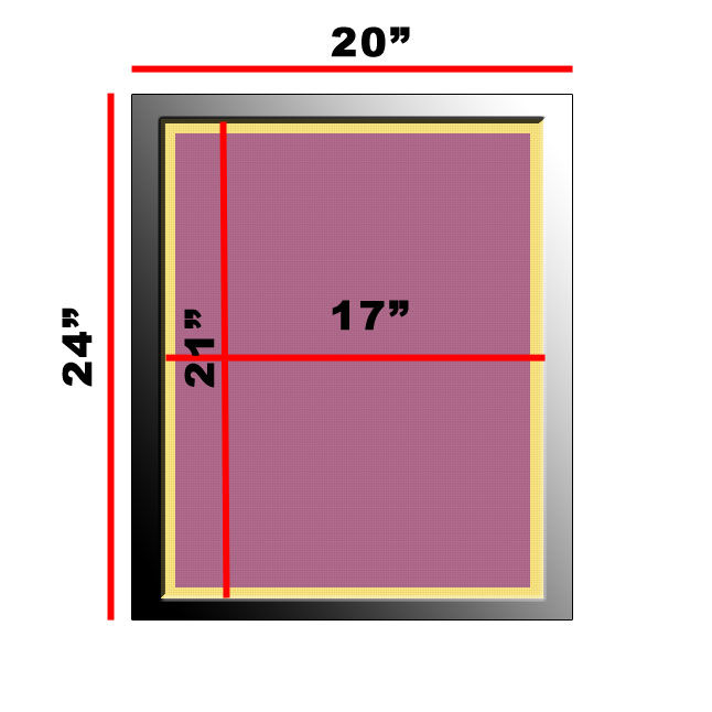 Atlas Screen Supply Company - Aluminum Frame 20 x 24 w/ 230 Dyed ...