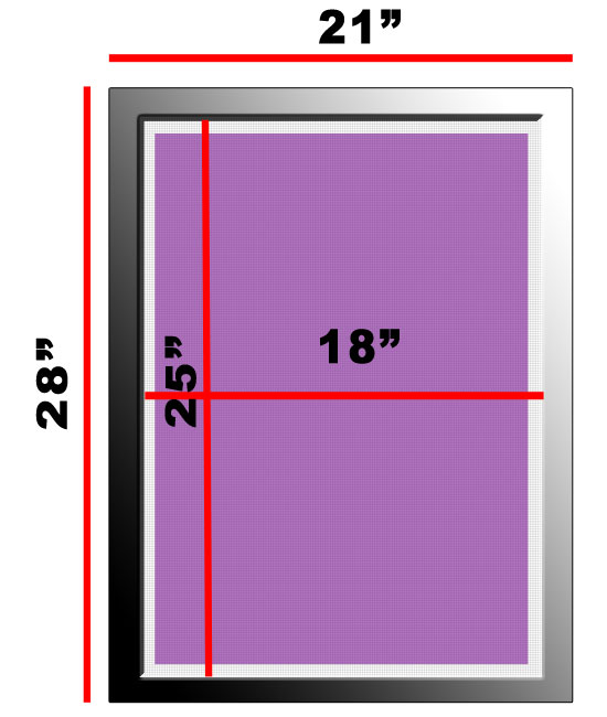 Atlas Screen Supply Company Aluminum Frame 21 X 28 W 160 White