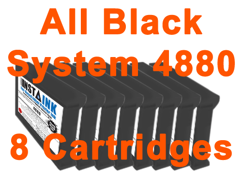All Black Set Insta Ink 4880 Cartridges