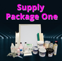 Supply Package One screen printing, supplies, supply package