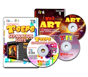 T-Seps 3.5.5 Color Separation Software color separation, software, t-seps, screen printing