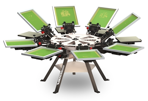V1000 8 Color 8 Station Screen Printing Press