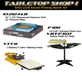 Tabletop Shop I screen printing, equipment, shop set-up, vastex