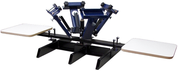 HBE 4 Color 2 Station Manual Press