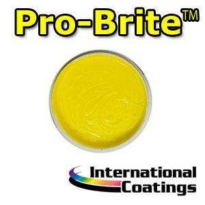 724LF Pro-Brite Yellow four color process, screen printing, inks