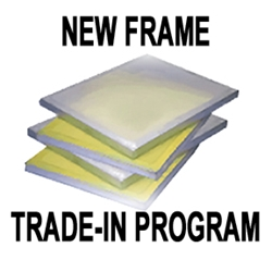 "New Frame Trade-In Program (Aluminum Frames 21"" x 28"") trade-in, frames, automatic, screen printing"