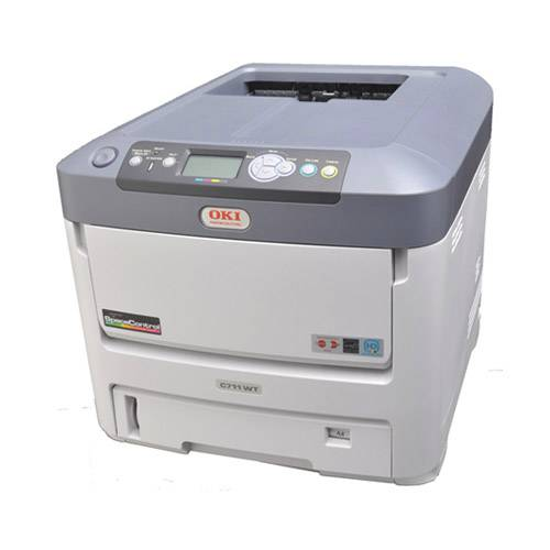 OKI C711WT White Toner Laser Color Printer  Laser, Transfer, Printer, OKI, C711WT